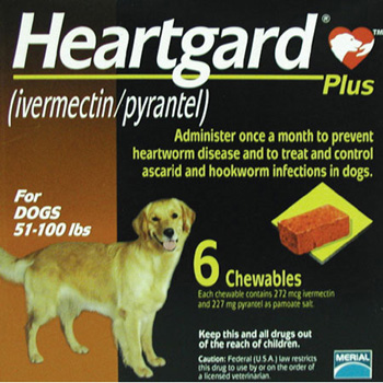 Rx Heartguard Plus Brown 51-100 lb   6 Dose