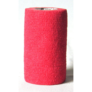 "3M Vetrap Bandaging Tape 5 yd X 4"" Red"