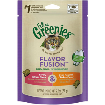 Feline Greenies Chicken/Salmon 2.5 oz