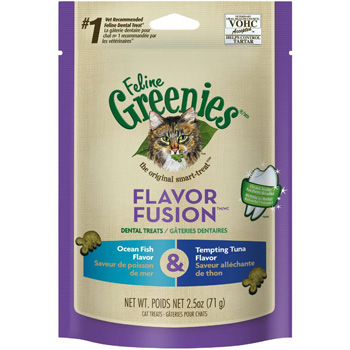 Feline Greenies Fish/Tuna 2.5 oz