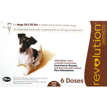 Rx Revolution Dog 11-20 lb   6 Dose