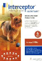 Rx Interceptor Brown 6 x 2.3 mg for Dogs 2-10 lb  6 Dose
