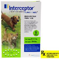 Rx Interceptor Green Dogs 11-25 lb   Cats 1.5-6 lb   6 Dose