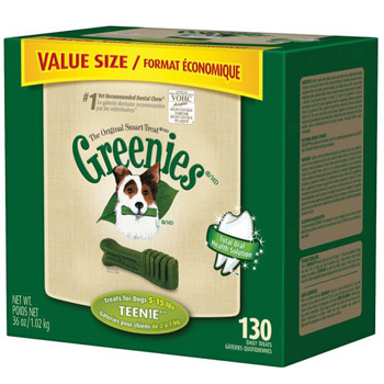 Greenies Dog Dental Chews - Teenie - 130 Count Tub
