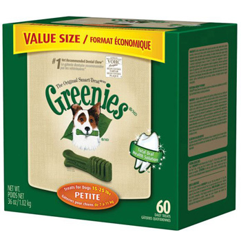 Greenies Dog Dental Chews - Petite  - 60 Count Tub