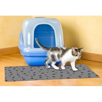 "Gray Litter Box Mat 20"" X 28"""