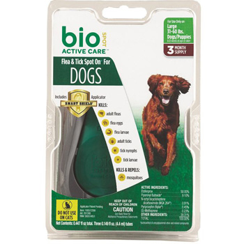 Bio Spot Active Care Large Dogs 31-60 lb 3 Dose