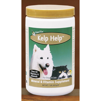NaturVet Kelp Help Plus Omegas for Dogs and Cats, 4 lb Powder