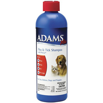 Adams Plus Flea & Tick Shampoo with Precor for Dogs and Cats 12 oz