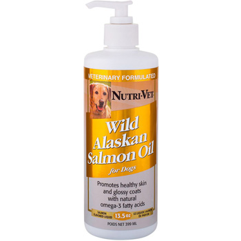 Nutri-Vet Wild Alaskan Salmon Oil for Dogs 13.5 oz