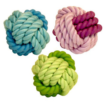 KNOTS ROPE/RUBBER BALL 3""