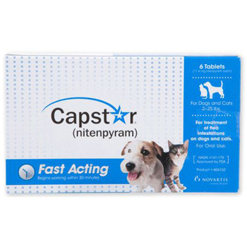 Capstar Blue Dogs and Cats 2-25 lb  6 pk