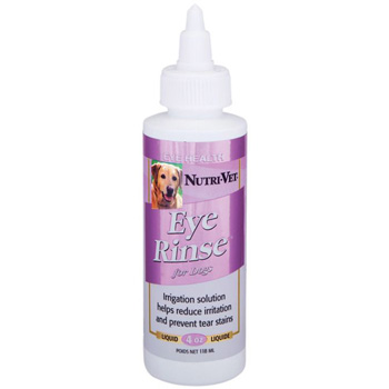 Nutri-Vet Eye Rinse Liquid for Dogs, 4-Ounce