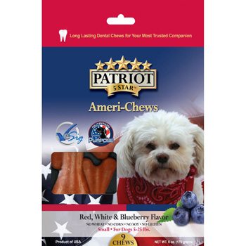 Patriot Red White and Blueberry Dental Chew