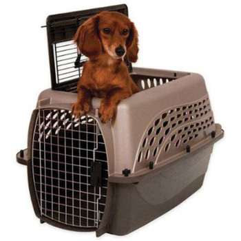 2 DOOR TOP LOAD KENNEL TAN