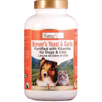 NaturVet Brewer's Yeast & Garlic Tablets 500 ct
