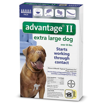 Bayer Advantage II Extra Large Dogs 55 lb & Over  6 Dose