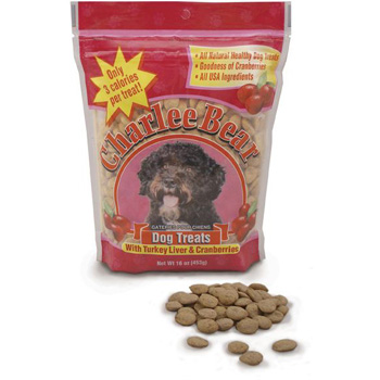 Charlee Bear Dog Treat Turkey, Liver and Cranberry 16 oz