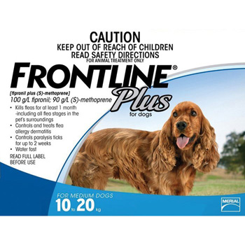 Frontline Plus for Dogs 23-44 lb 3 Dose