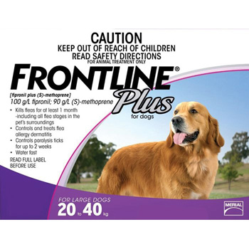 Frontline Plus for Dogs 45-88 lb 3 Dose