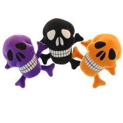 PLUSH SKULL AND CROSSBONES