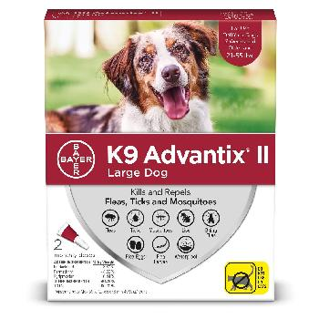 Bayer K9 Advantix II for Large Dogs 21-55 pounds, Flea, Tick and Mosquito, 2 doses