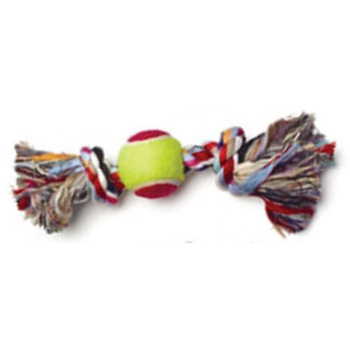 Rope Bone with Tennis Ball in Center