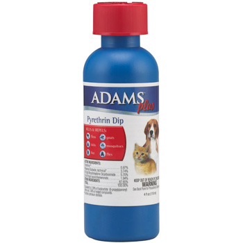Adams Plus Pyrethrin Dip for Dogs and Cats, 4 ounces