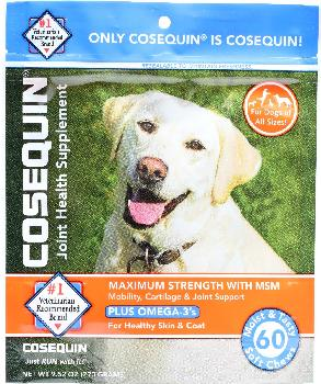 Cosequin Max Strength with MSM plus Omega-3 soft chew, 60 ct