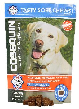 Cosequin Max Strength with MSM plus Omega-3 soft chew, 150 count