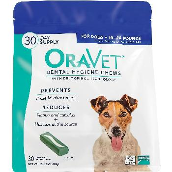 OraVet Dental Hygiene Chews for Small Dogs 10-24 pounds, 30 count
