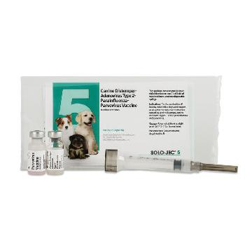 Solo-Jec 5 Vaccine for Dogs, 1 single dose with syringe