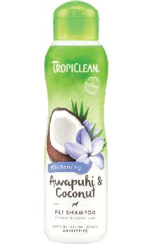 TropiClean Awapuhi and Coconut Pet Shampoo, Whitening, 20 ounces