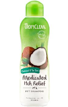 TropiClean Oatmeal & Tea Tree Medicated Dog Shampoo 20 oz