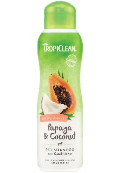 TropiClean Papaya and Coconut Shampoo and Conditioner, 20 ounces