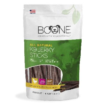 Boone K9 Jerky Sticks for Dogs, Chicken, 6 ounces