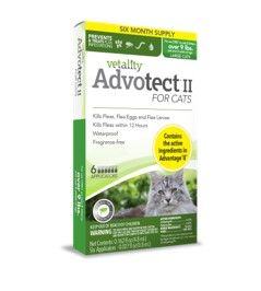 Vetality Advotect II for Cats 5-9 lbs 6 dose