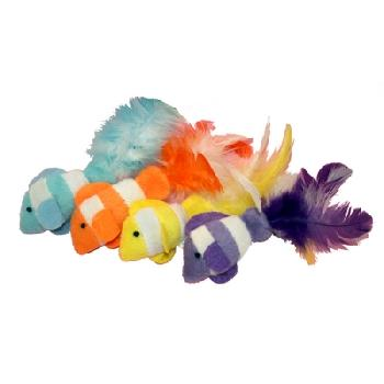 "Clown Fish 2 pack Cat Toy 4.5"" each"