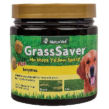 NaturVet GrassSaver Plus Enzymes Soft Chews for Dogs, 120 count