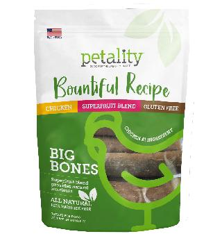 Petality Bountiful Recipe Big Bones for Dogs, 24oz
