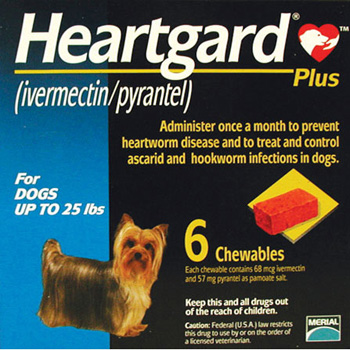 Rx Heartgard Plus Blue 0 25 Lb 6 Dose 6wpm Heartworm Medication