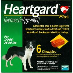 Rx Heartgard Plus Green 26-50 lb   6 Dose