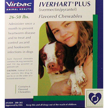Rx Iverhart Plus Green 26-50 lb  6 Dose