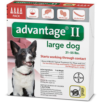 Bayer Advantage II Large Dogs 21-55 lb   4 Dose