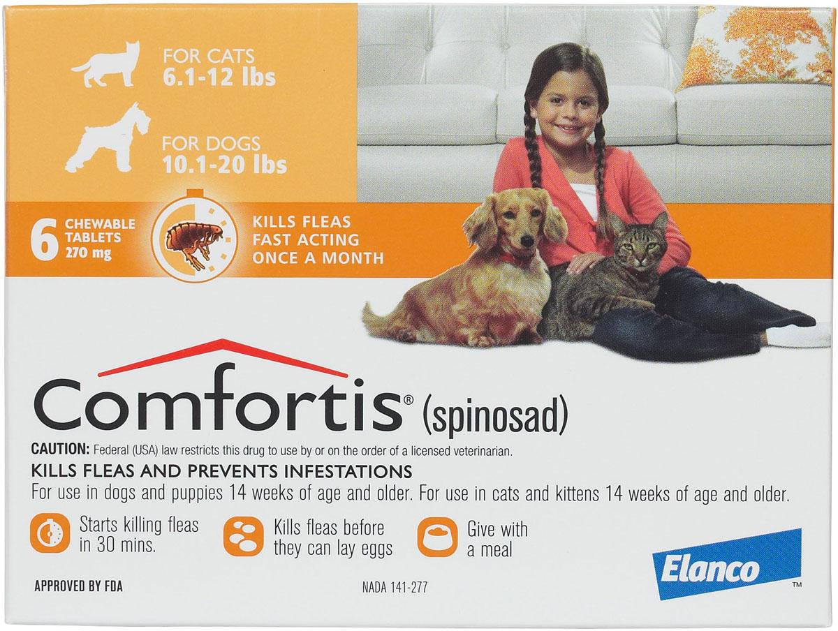 Rx Comfortis Tabs 11 20 Lb Dog And 6 12 Lb Cat Orange 6