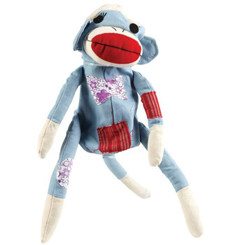 Crinkle Critters Canvas Sock Monkey