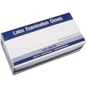 Latex Exam Gloves Powder Free Medium 100 ct