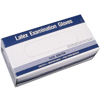Latex Exam Gloves Powder Free Large 100 ct