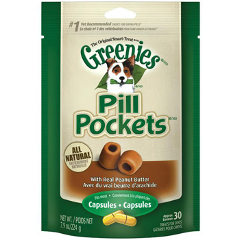 Greenies Pill Pocket Large Peanut Butter 7.9 oz