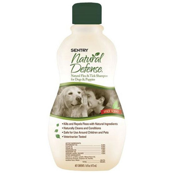 Natural Defense Shampoo for Dogs and Puppy 12 oz